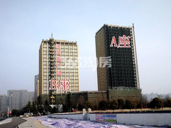 金龙湖广场公寓A、B座工地实景图1(2.26)
