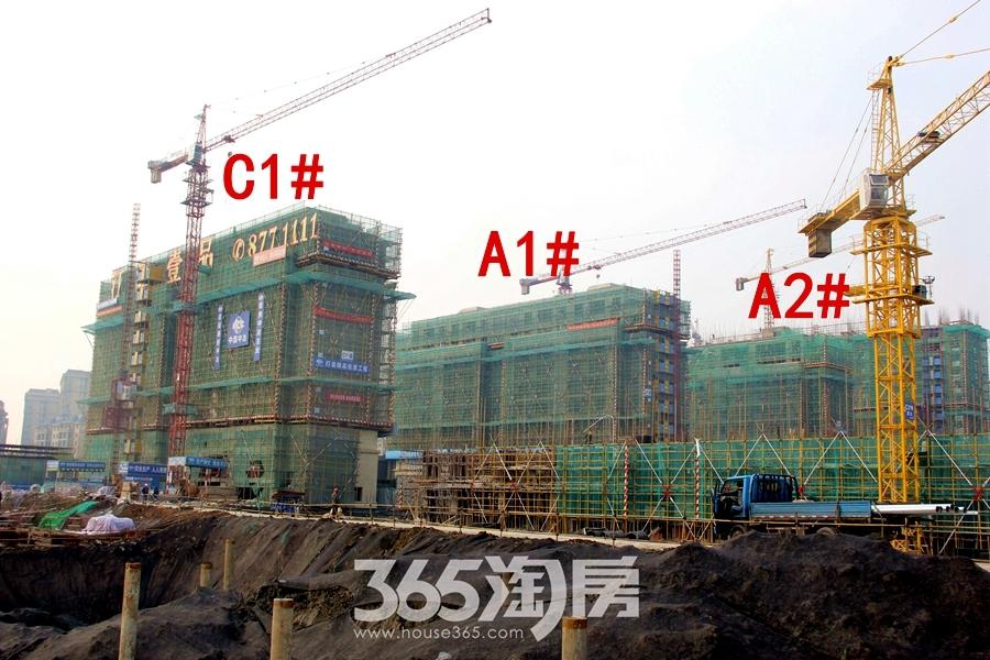 汀海壹品A1#、A2#、C1#楼12月工程进度(2018.12摄)