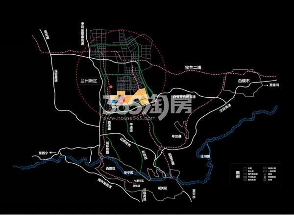 绿地智慧金融城交通图