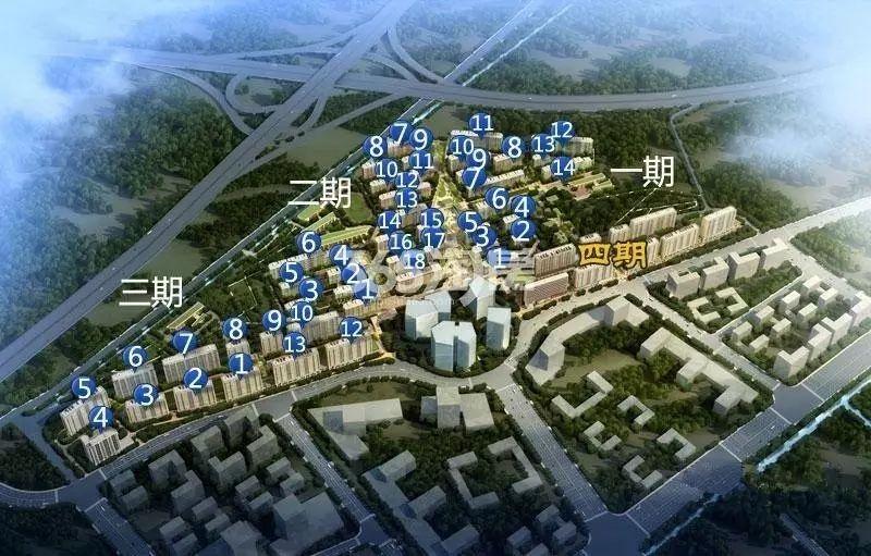 地铁绿城杨柳郡鸟瞰图