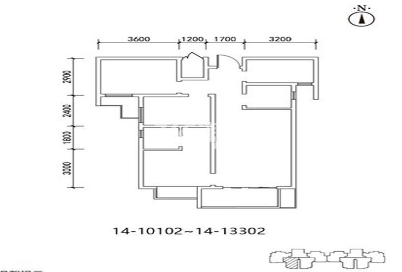 三迪枫丹10/14号楼3室2厅1卫1厨98.48㎡