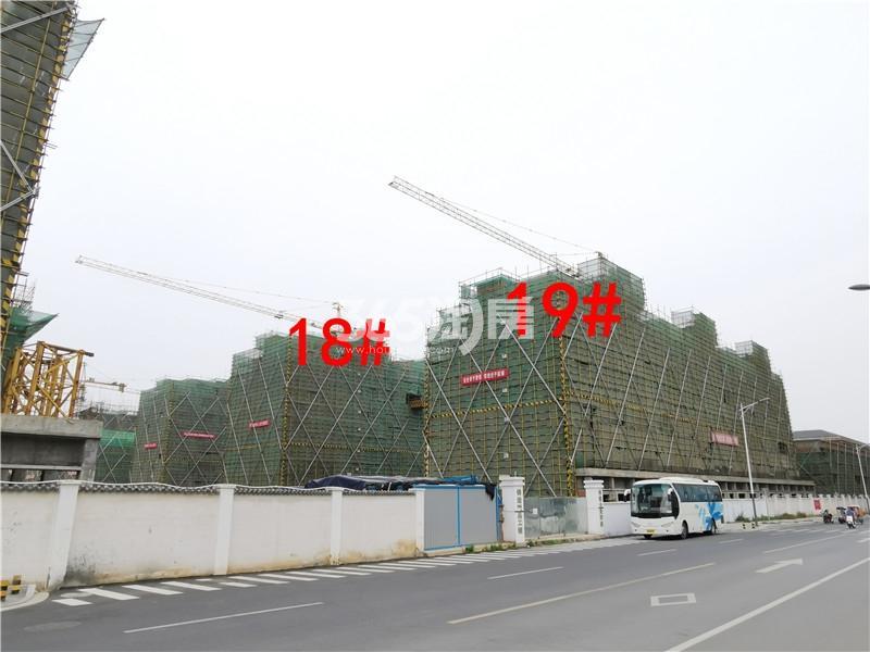 绿地理想城悦湖公馆在建18、19#楼实景图(6.25)
