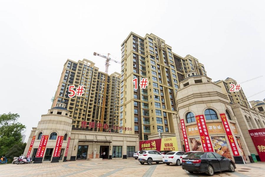 信德悦城1#2#5#楼工程进度(2019.9摄)
