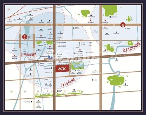 美的禹洲国宾府交通图