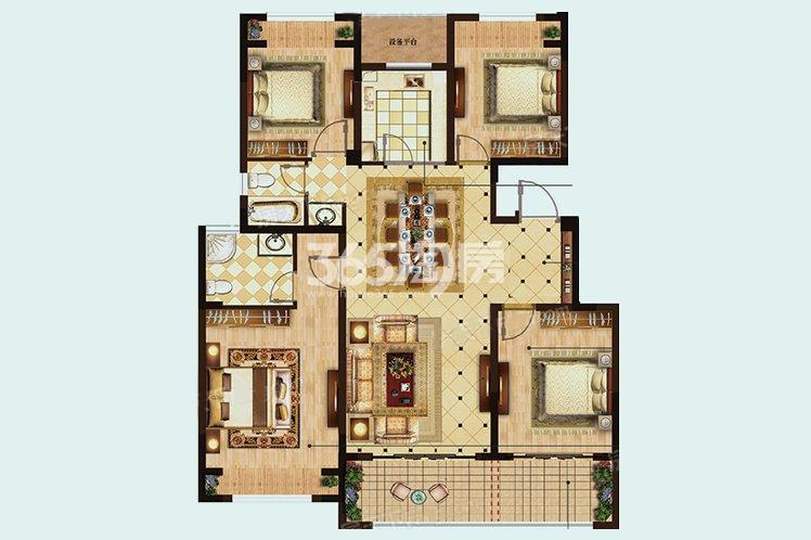 D户型居室125.00㎡