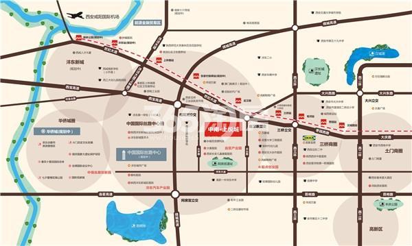中南上悦城交通图