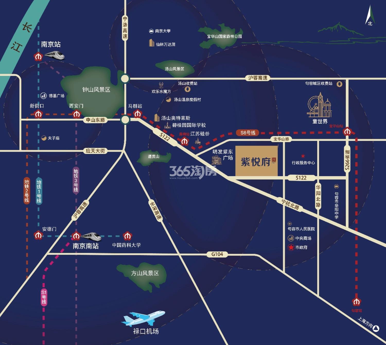 紫悦府交通图