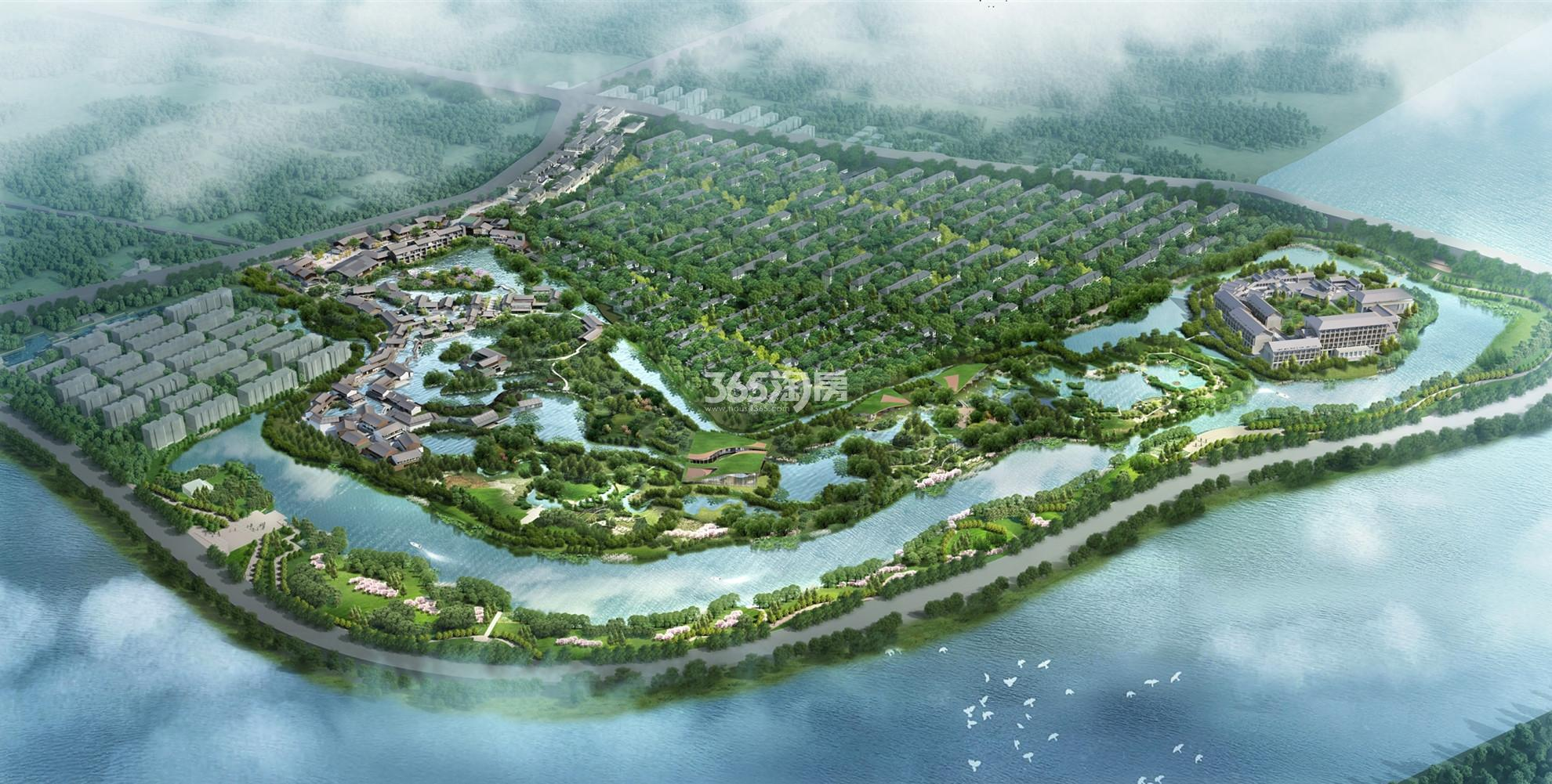 南京高淳雅园鸟瞰图