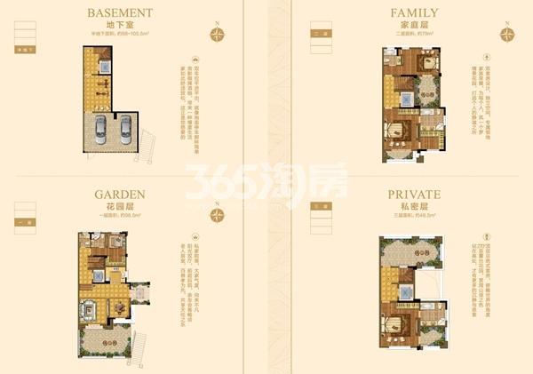 别墅E户型294-331.5㎡四室两厅