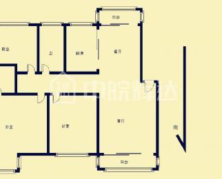 急售 翠竹园B区 电梯房 高楼层 三室两厅 无税 急售