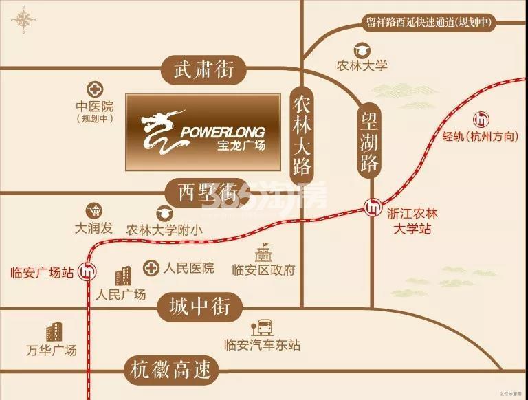 临安宝龙广场交通图