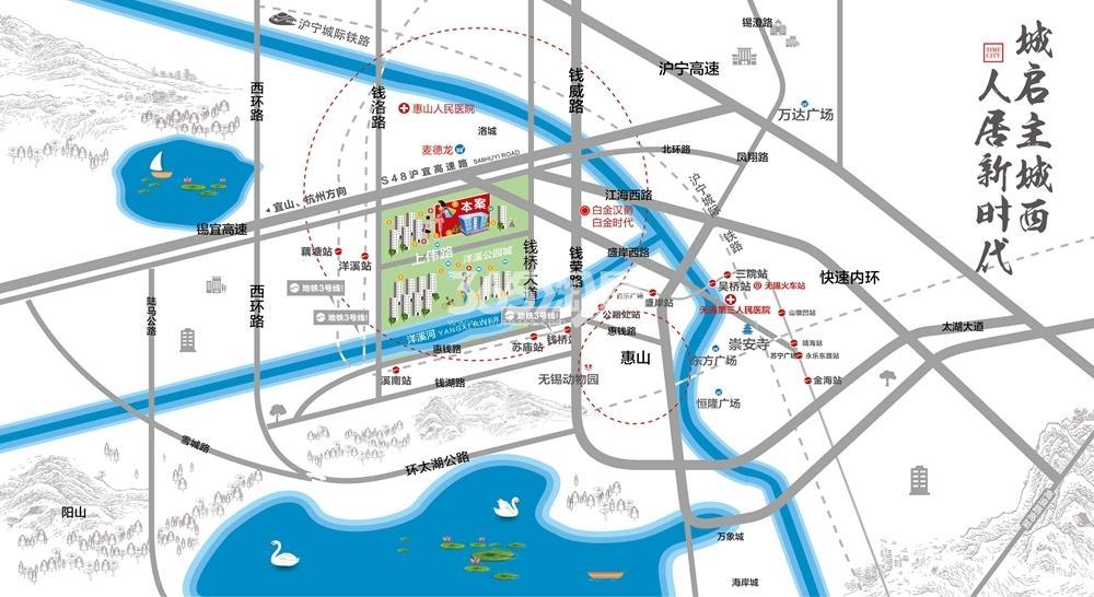 时代城交通图