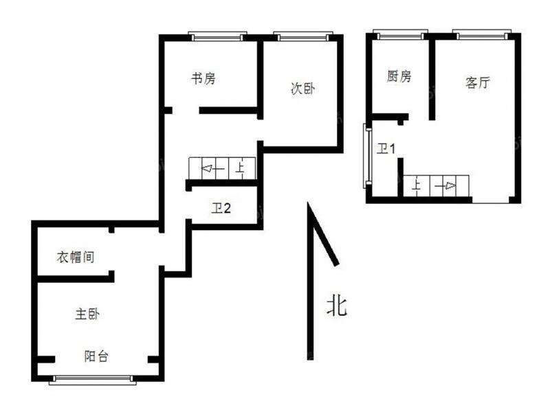 金地自在城一期14栋9F3室1厅2卫102平方产权房精装