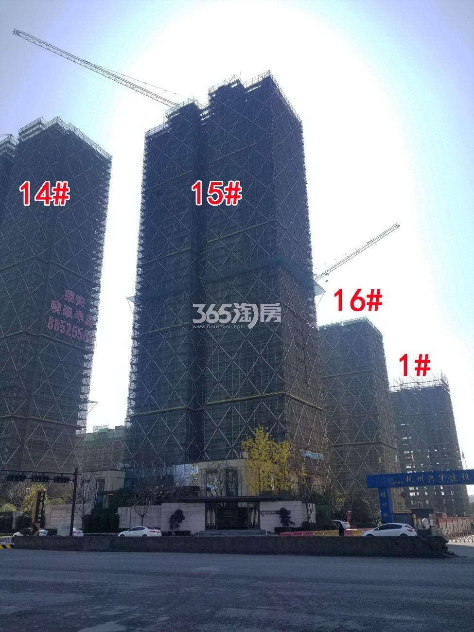 2018年2月底荣安翡翠半岛高层1、14-16号楼