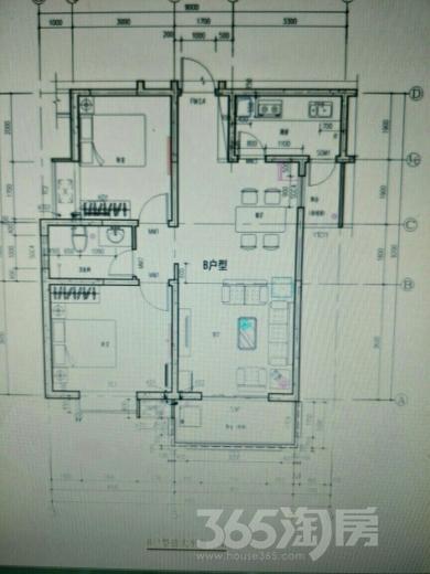 香林郡2室2厅1卫94平米2016年产权房毛坯