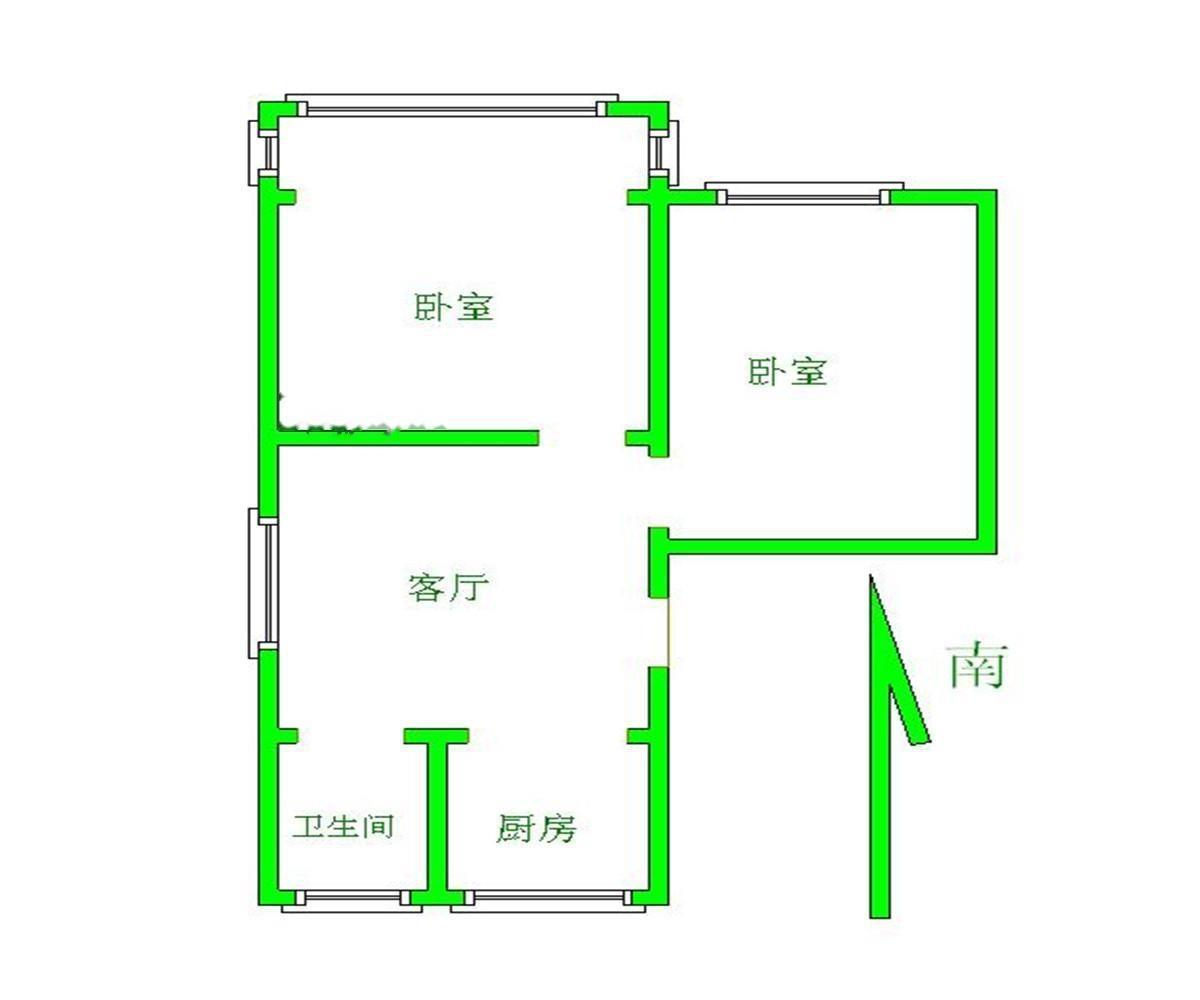 鼓楼区热河南路热河南路小区2室1厅户型图