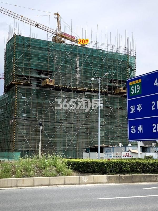 绿地天空树20#楼工程进度实景(2018.7摄)
