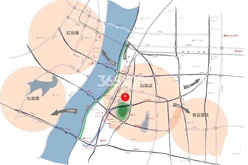 联发公园前交通图