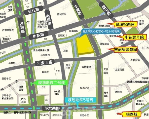 绿城建发沁园交通图
