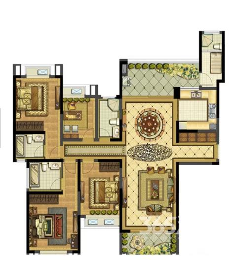 雅居乐滨江国际5室2厅4卫178平方产权房毛坯