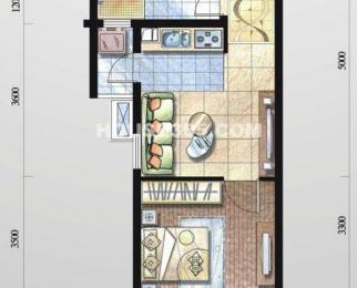 74绿地伊顿公馆 精装单身公寓 拎包入住 万达附近 业主城租