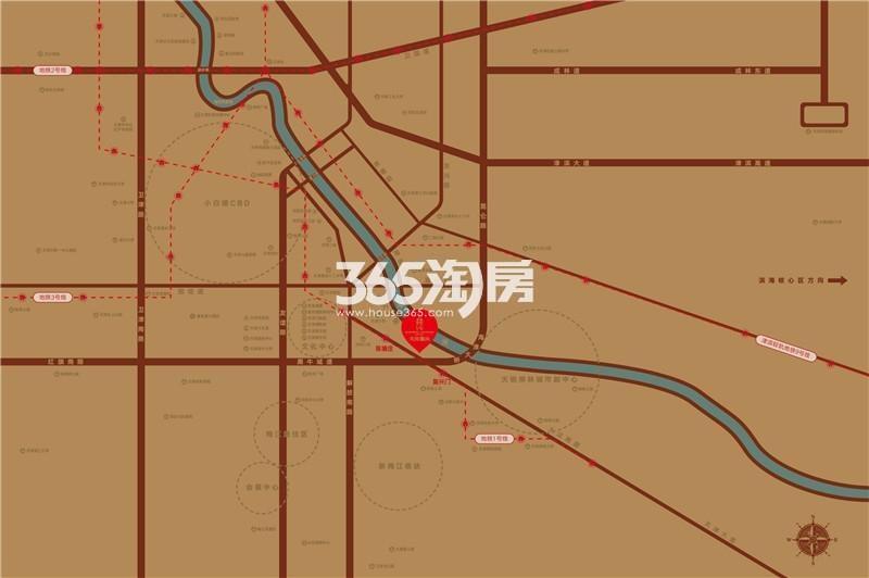 天房麗山交通图