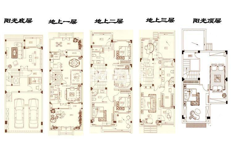 ΜΟΜΛ春风湖上联排别墅320平户型图