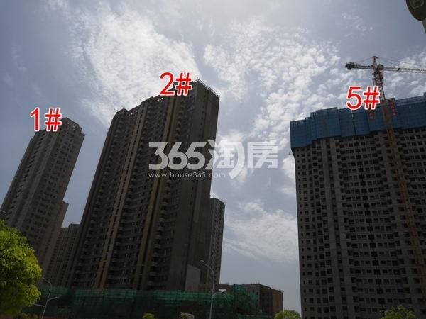 万科翡翠天地一期1、2#楼已封顶5#楼建约30层(5.28)