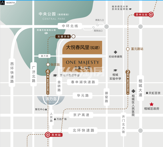 中粮·天悦·悦茏雅苑交通图