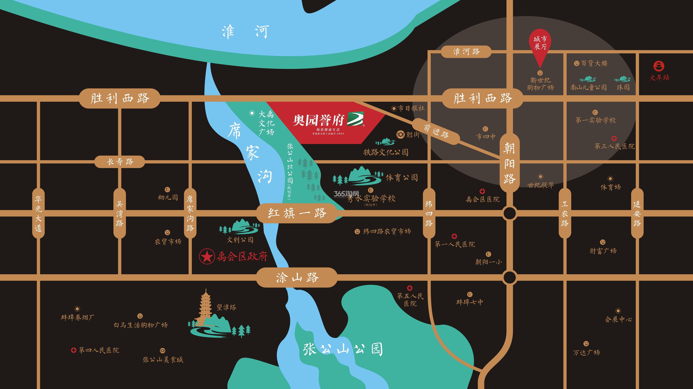 奥园誉府交通图