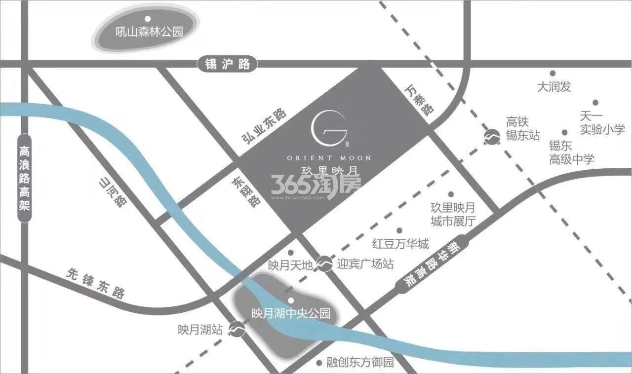 玖里映月交通图