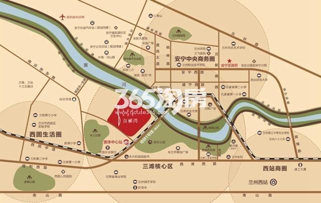 甘肃建投地产百郦湾交通图