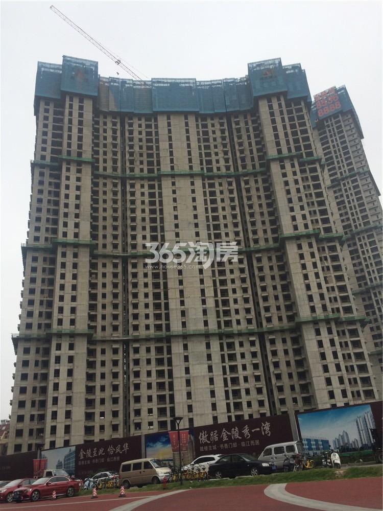 恒盛金陵湾3号楼在建实景图(10.18)