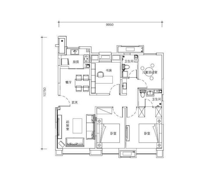 洋房110平米四室两厅两卫