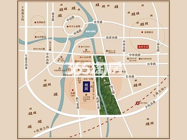 骏园交通图