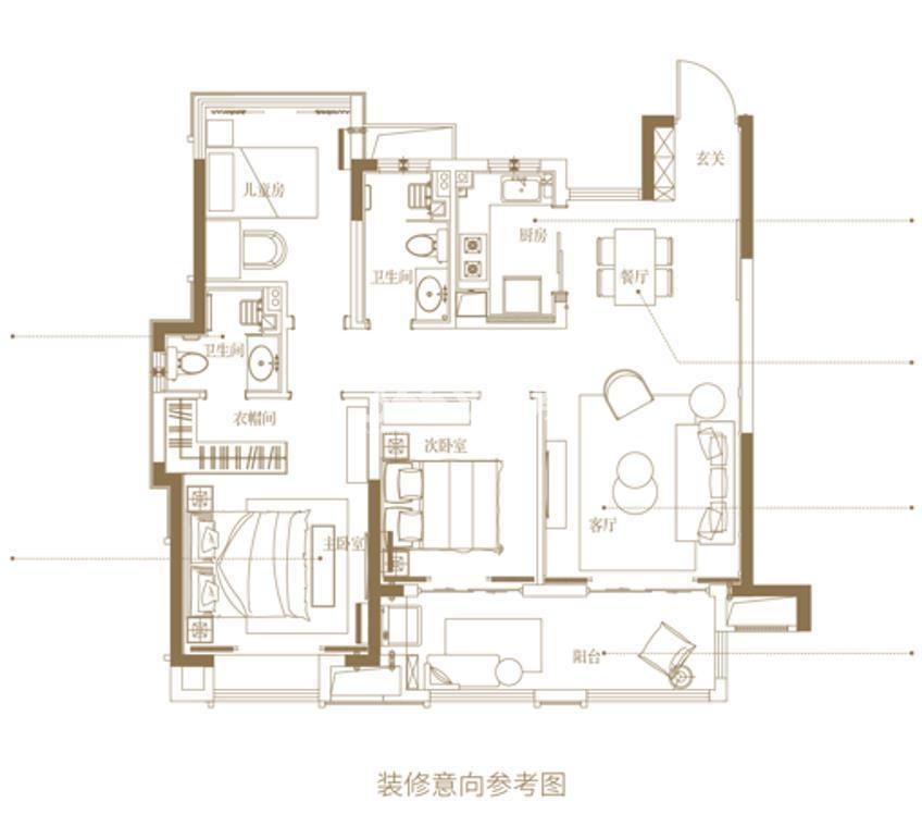 新城悦隽九里109㎡三室两厅两卫
