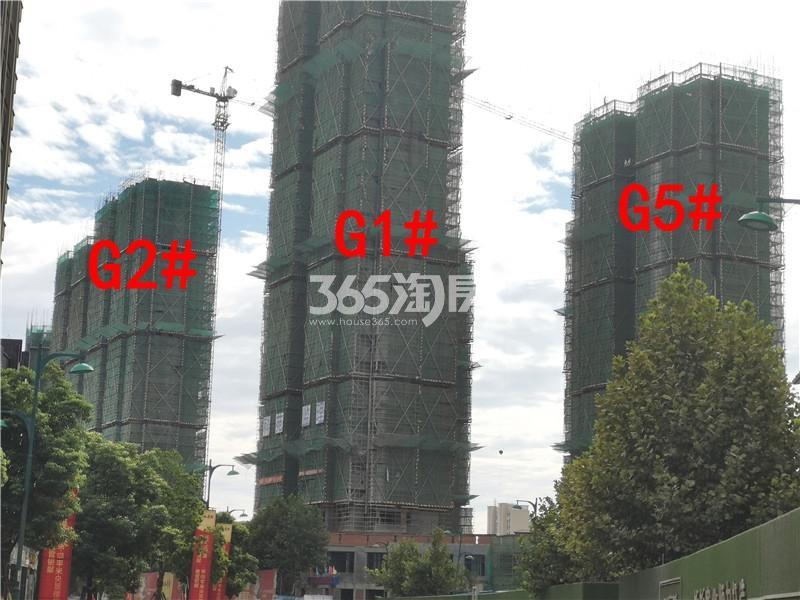 枫林学府在建G1、G2、G5#楼实景图(9.25)