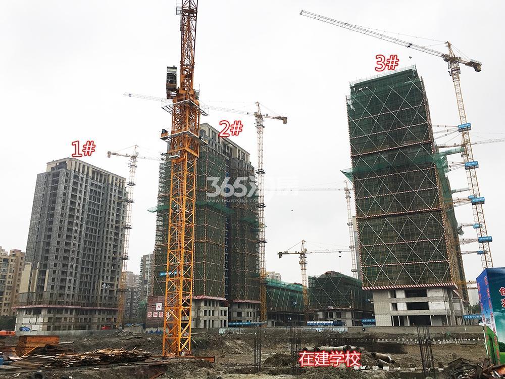 2018年5月31日首开杭州金茂府高层1-3号楼及周边在建学校工地