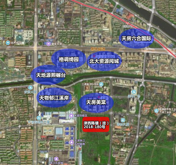绿城天津诚园交通图