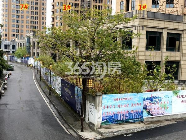 绿地・观澜湾沿街商业工程进度实景图(2017.12摄)