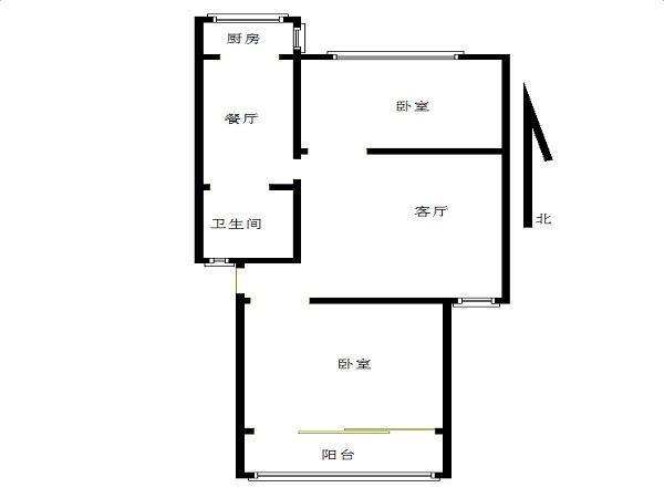 清江花苑明月园2室2厅1卫75.46平方产权房简装