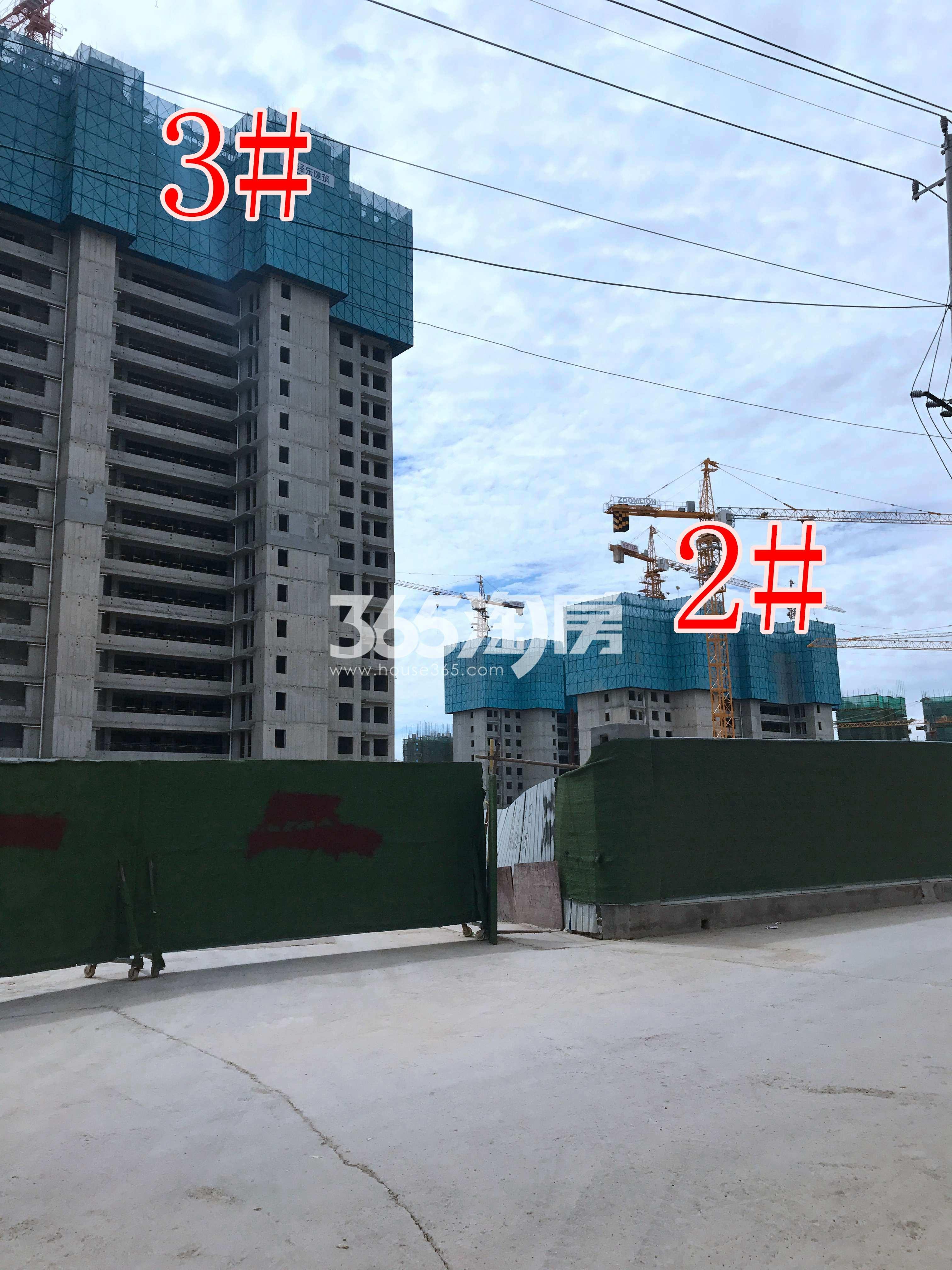 万科翡翠湖山2、3#工地建设进度图(9.30)