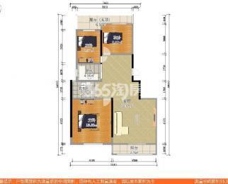 墨香山庄3室2厅1卫105平米豪华装产权房2008年建