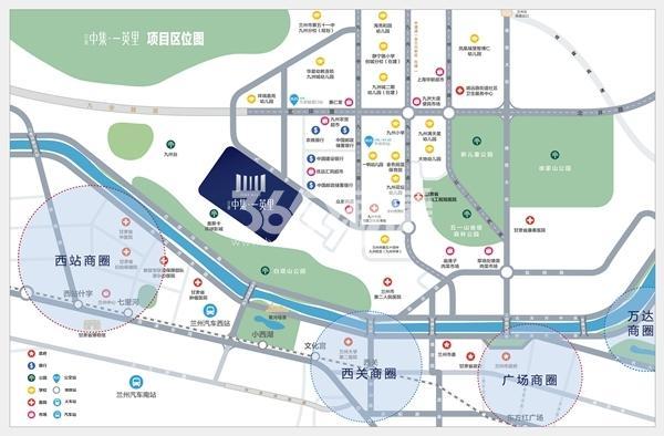 甘肃中集·一英里交通图