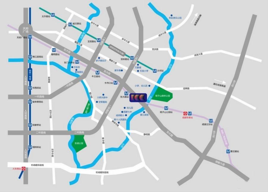 成都ICC交通图