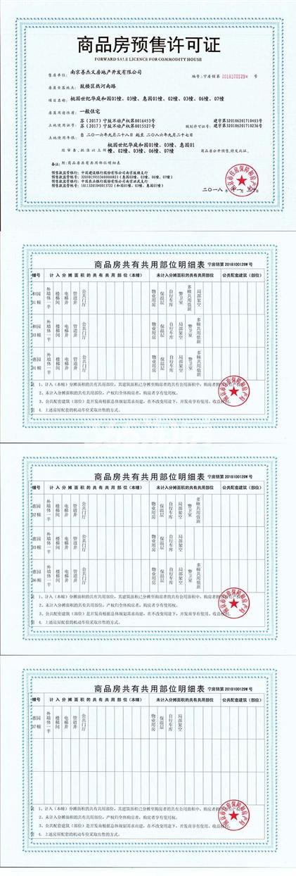 桃园世纪销售证照