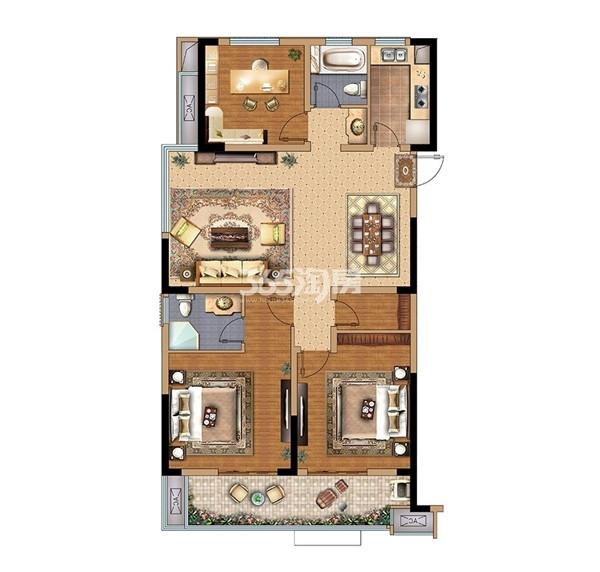 拓基·鼎元里 2#三室两厅两卫 115㎡
