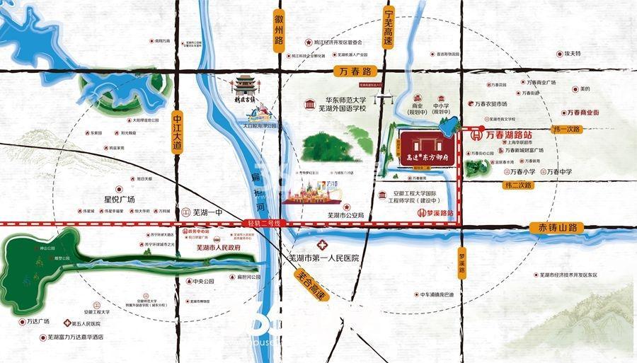 高速东方御府交通图