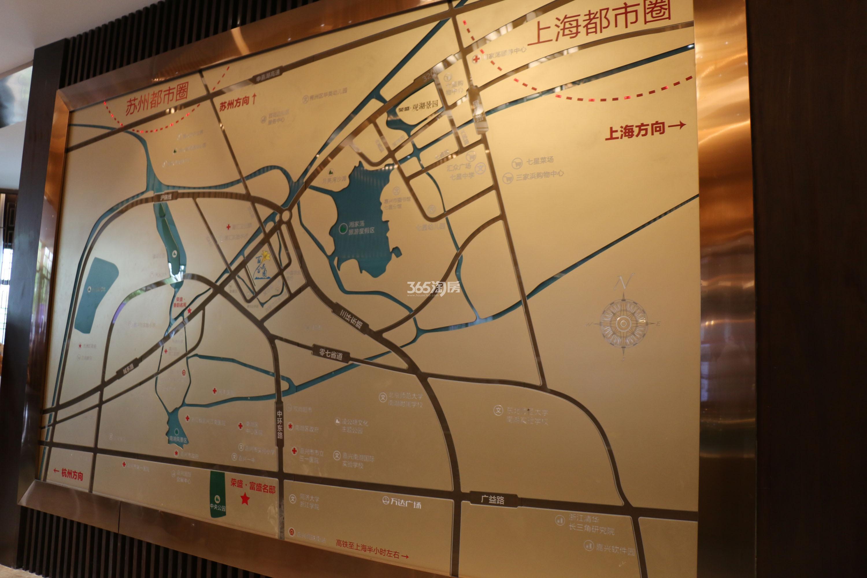 荣盛·百合花园交通图
