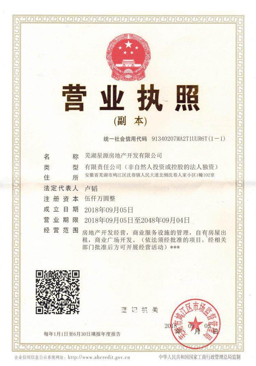伟星雍璟台销售证照